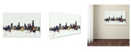 "Trademark Global Michael Tompsett 'Melbourne Skyline' Canvas Art - 12"" x 19"""