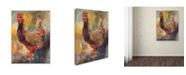 """Trademark Global Richard Wallich 'Art Rooster 1' Canvas Art - 14"""" x 19"""""""
