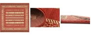 Bridgeport Home Ojas Oja4 Rust Red 10' x 10' Square Area Rug