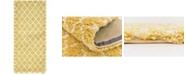"""Bridgeport Home Fazil Shag Faz4 Yellow 2' 7"""" x 6' Runner Area Rug"""