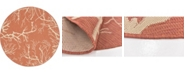 Bridgeport Home Pashio Pas6 Terracotta 6' x 6' Round Area Rug