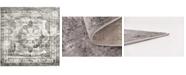 Bridgeport Home Basha Bas2 Gray 6' x 6' Square Area Rug