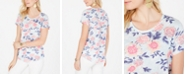 Style & Co Cotton Floral-Print Top, Created for Macy's