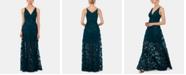 XSCAPE Petite Floral-Lace Illusion Gown