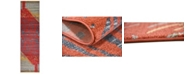 """Bridgeport Home Ojas Oja1 Red 2' 7"""" x 10' Runner Area Rug"""