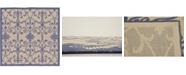 Bridgeport Home Pashio Pas5 Blue 6' x 6' Square Area Rug
