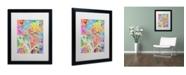 "Trademark Global Michael Tompsett 'Washington DC Street Map' Matted Framed Art - 16"" x 20"""