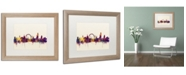 """Trademark Global Michael Tompsett 'London England Skyline' Matted Framed Art - 16"""" x 20"""""""