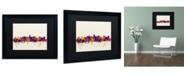 """Trademark Global Michael Tompsett 'Madison Wisconsin Skyline' Matted Framed Art - 16"""" x 20"""""""