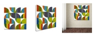 "Trademark Global Michelle Calkins 'Quarter Rounds 1.0' Canvas Art - 18"" x 18"""