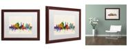 """Trademark Global Michael Tompsett 'Milan Italy Skyline Beige' Matted Framed Art - 16"""" x 20"""""""