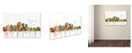 "Trademark Global Marlene Watson 'Louisville Kentucky Skyline Mclr-1' Canvas Art - 16"" x 24"""