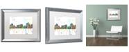 "Trademark Global Marlene Watson 'Reno Nevada Skyline Mclr-1' Matted Framed Art - 16"" x 20"""