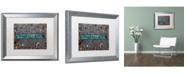 "Trademark Global Nicole Dietz 'The Triathlete II' Matted Framed Art - 16"" x 20"""