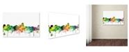 "Trademark Global Marlene Watson 'Albuquerque New Mexico Skyline SP' Canvas Art - 16"" x 24"""