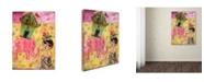 "Trademark Global Wyanne 'Big Eyed Girl Pink Elephant Circus' Canvas Art - 18"" x 24"""