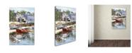 "Trademark Global The Macneil Studio 'Coastal Town' Canvas Art - 16"" x 24"""