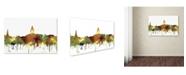 """Trademark Global Marlene Watson 'Annapolis Maryland Skyline SG Safari Buff' Canvas Art - 16"""" x 24"""""""