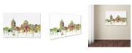 "Trademark Global Marlene Watson 'Virginia Beach Skyline SG Faded Glory' Canvas Art - 16"" x 24"""