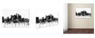 "Trademark Global Marlene Watson 'Los Angeles California Skyline BW' Canvas Art - 16"" x 24"""