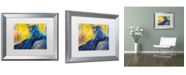 """Trademark Global Richard Wallich 'Black Panther' Matted Framed Art - 16"""" x 20"""""""