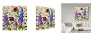 "Trademark Global Lisa Audit 'Lisa's Garden 3' Canvas Art - 18"" x 18"""