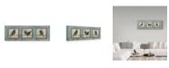 """Trademark Global Jean Plout 'Bird Panels' Canvas Art - 16"""" x 47"""""""