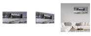 "Trademark Global Wilhelm Goebel 'Winter Barn' Canvas Art - 16"" x 32"""