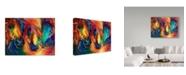 "Trademark Global Marcia Baldwin 'Color My World With Horses' Canvas Art - 19"" x 14"""