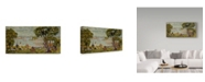 "Trademark Global Maurice Brazil Prendergast 'Cove Maine' Canvas Art - 19"" x 10"""