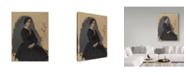 "Trademark Global Edgar Degas 'Young Woman In Black' Canvas Art - 19"" x 14"""