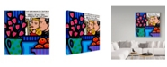 """Trademark Global John Nolan 'Still Life With Lichtenstein' Canvas Art - 14"""" x 14"""""""
