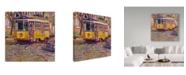 "Trademark Global Howie Green 'Italian Trolley' Canvas Art - 14"" x 14"""