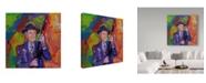 "Trademark Global Howie Green 'William Burroughs' Canvas Art - 18"" x 18"""
