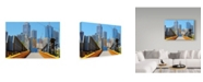 "Trademark Global Incredi 'Melbourne Bridge' Canvas Art - 19"" x 12"""