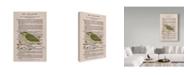 "Trademark Global Jane Wilson 'Willow Warbler' Canvas Art - 12"" x 19"""