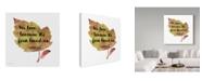 "Trademark Global Jean Plout 'Scripture Leaf 3' Canvas Art - 18"" x 18"""