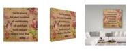 "Trademark Global Jean Plout 'Floral Bible Verse 2' Canvas Art - 18"" x 18"""