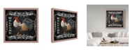 """Trademark Global Jean Plout 'Welcome Rooster 5' Canvas Art - 14"""" x 14"""""""