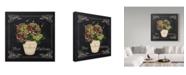 "Trademark Global Jean Plout 'Fleur Hortensia 7' Canvas Art - 18"" x 18"""