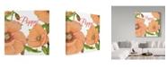 "Trademark Global Jean Plout 'Poppy 2' Canvas Art - 14"" x 14"""