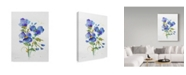 "Trademark Global Jean Plout 'Watercolor Flowers 2' Canvas Art - 14"" x 19"""