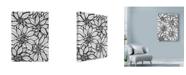 """Trademark Global Laura Miller 'Poinsettia Line Art' Canvas Art - 24"""" x 32"""""""