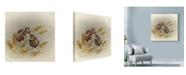 "Trademark Global Peggy Harris 'Kissin Cousins' Canvas Art - 14"" x 14"""