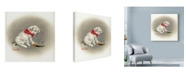 "Trademark Global Peggy Harris 'Dalmatian Sprinkles' Canvas Art - 14"" x 14"""