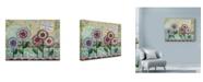 "Trademark Global Let Your Art Soar 'Live Well Flowers' Canvas Art - 19"" x 14"""