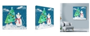 "Trademark Global Lisa Powell Braun 'Xmas Mouse' Canvas Art - 18"" x 18"""