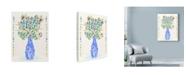 "Trademark Global Lisa Powell Braun 'Flowers With Vase' Canvas Art - 18"" x 24"""