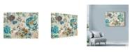"Trademark Global Marietta Cohen Art And Design 'Turquoise Floral' Canvas Art - 24"" x 18"""