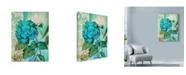 """Trademark Global Marietta Cohen Art And Design 'Blue Hortensia Floral' Canvas Art - 14"""" x 19"""""""